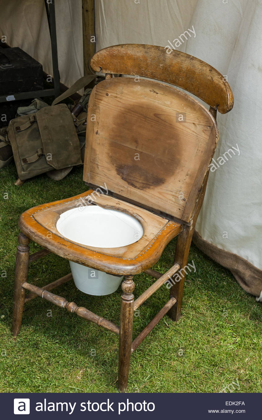 Delightful Old Fashioned Chair Commode