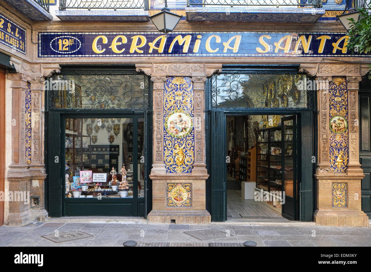 Tradional Ceramic Tile shop Seville Spain Stock Photo, Royalty ...