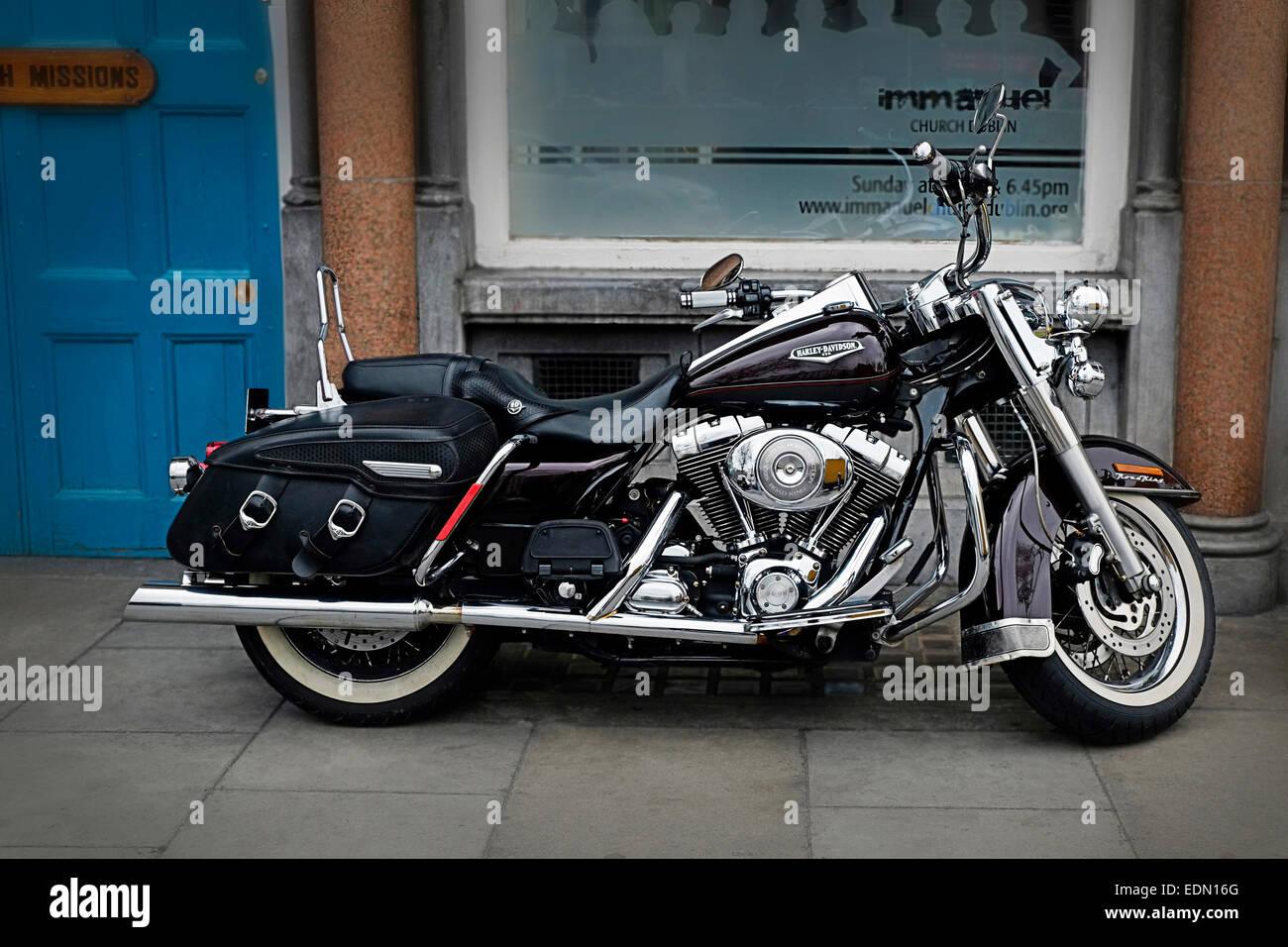 harley davidson road king motorcycle black and chrome dublin