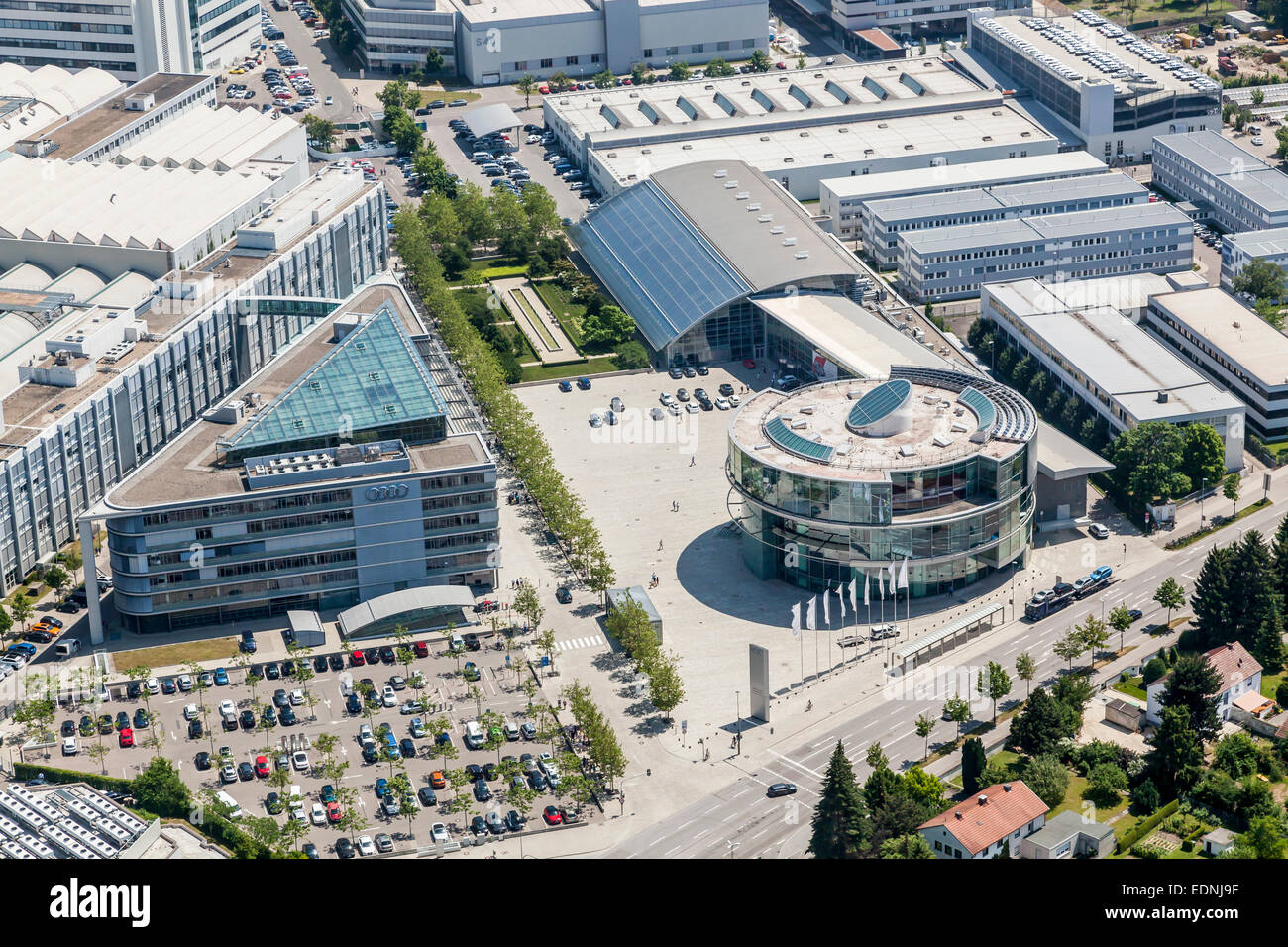 Aerial View Corporate Headquarters Of Audi Ag At The Main Plant Stock Photo 77307371 Alamy
