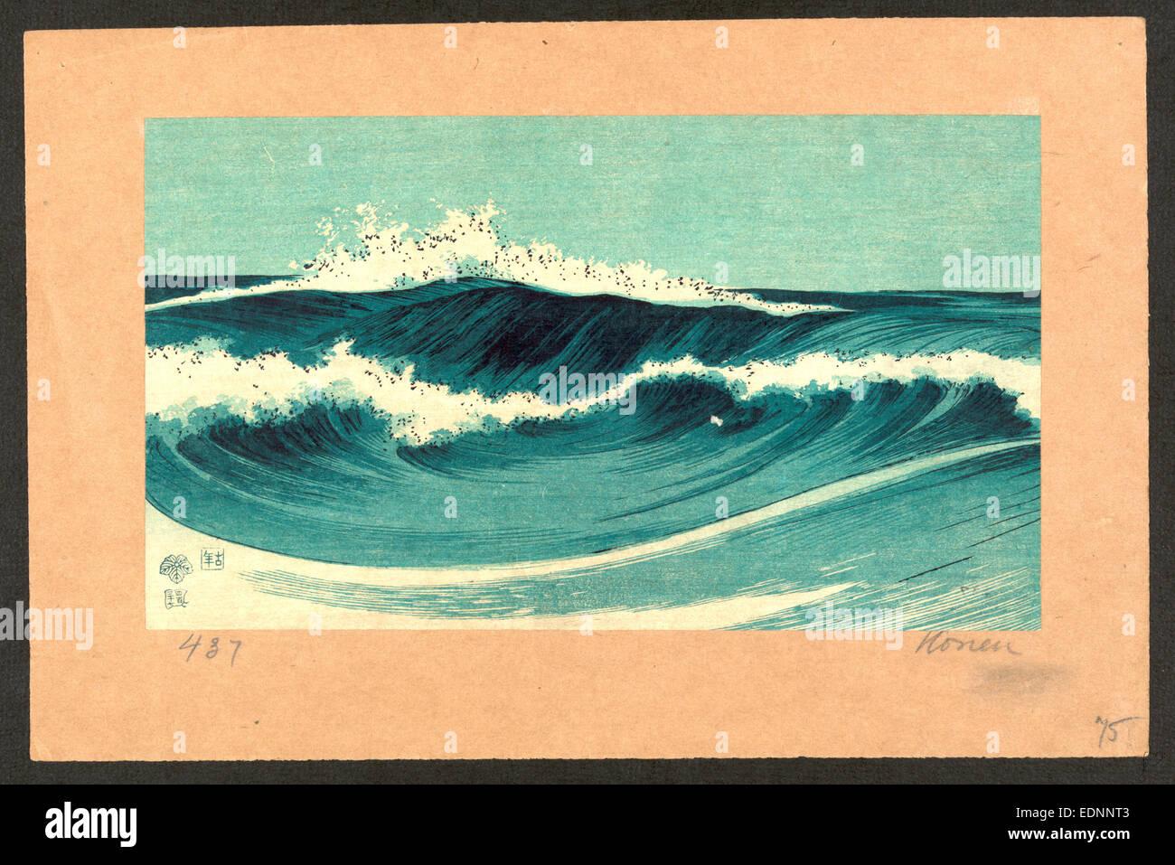 hato zu ocean waves uehara konen 1878 1940 artist between