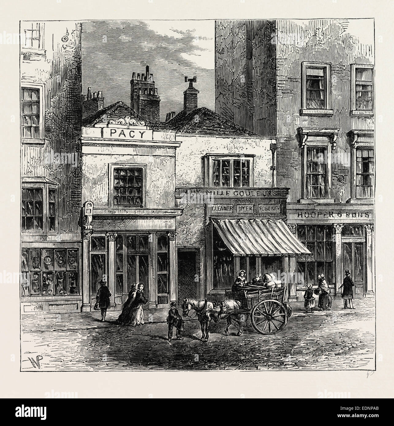 Old Houses In Holborn London Uk 19th Century Engraving