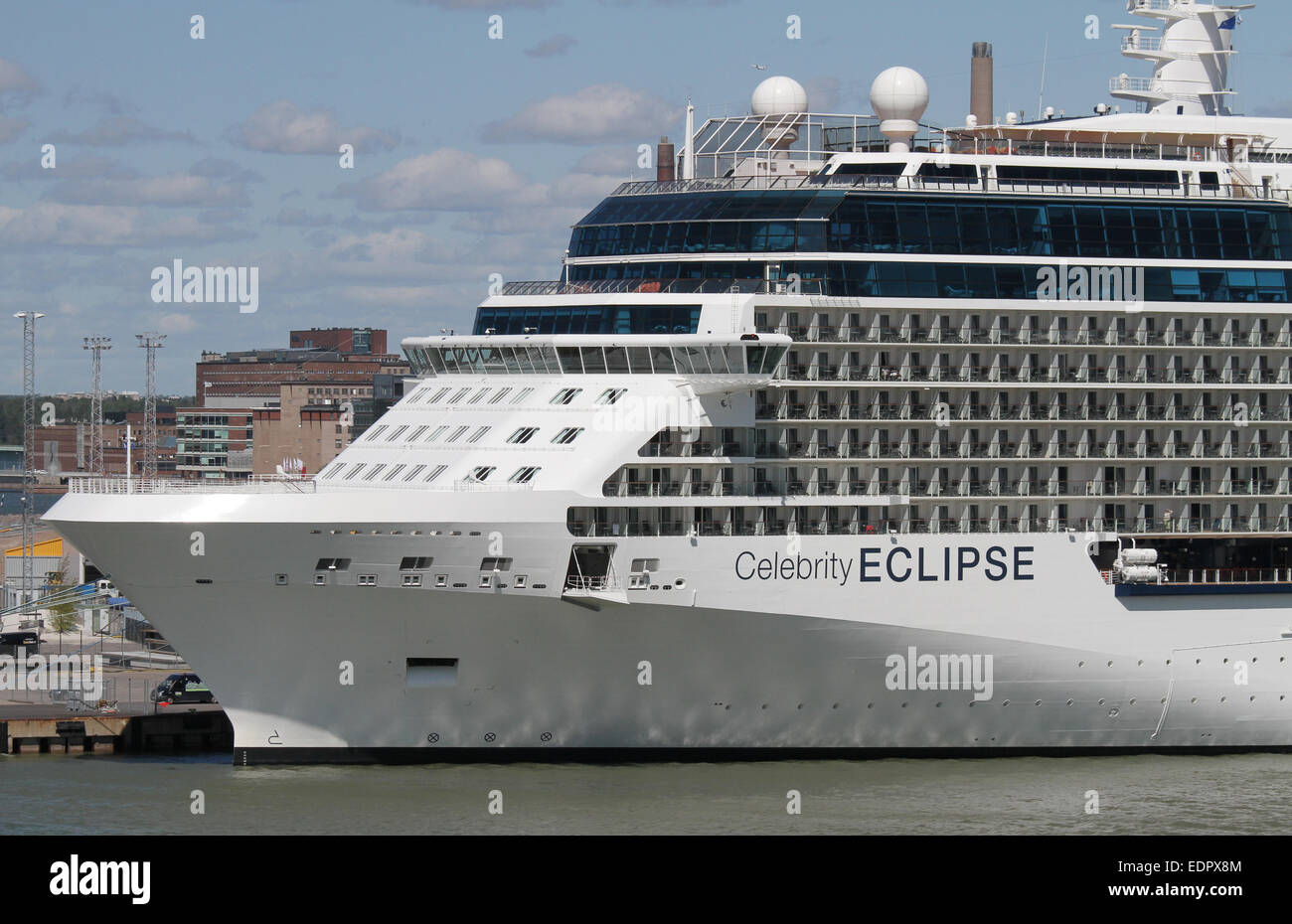 The Cruiseship Celebrity Eclipse Berthed In Helsinki