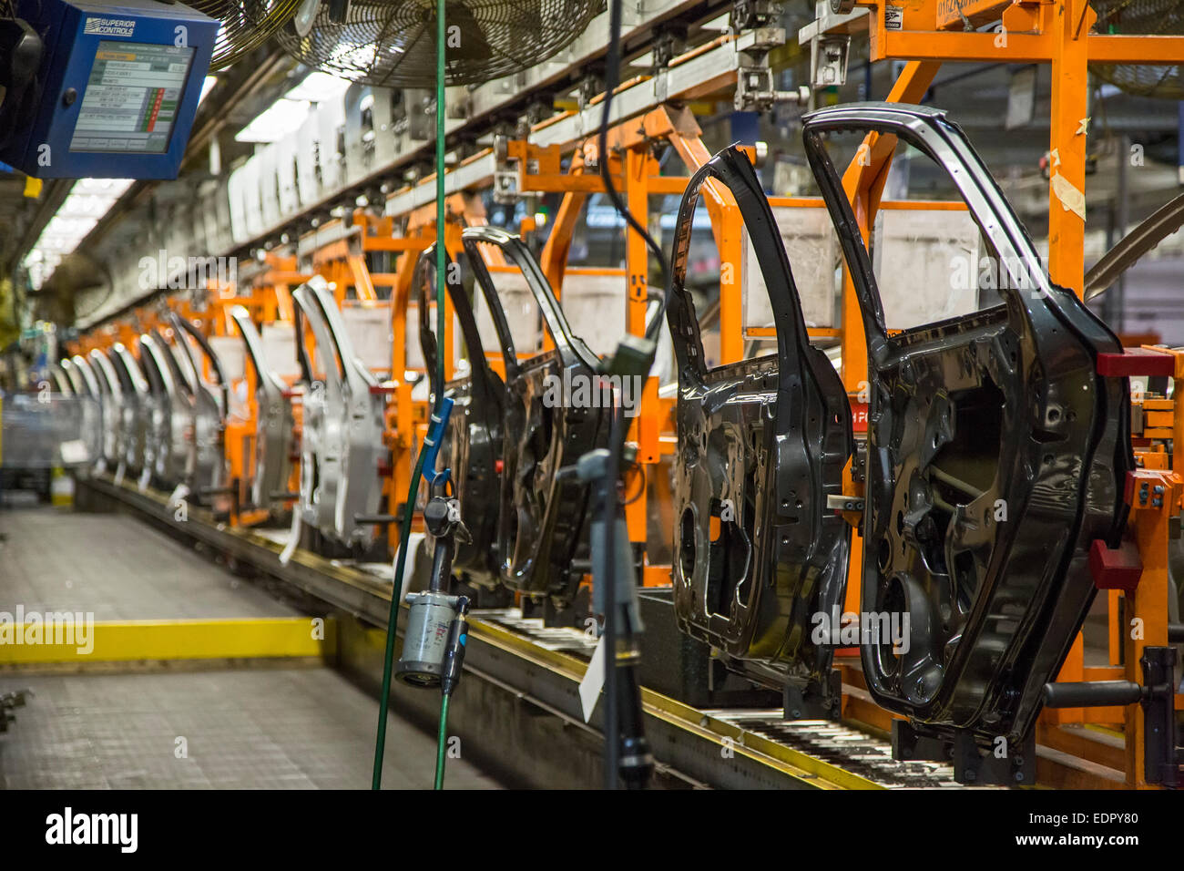 Wayne Michigan - Doors ready for installation on the Ford Focus and Ford C-Max at Ford\u0027s Michigan Assembly Plant & Wayne Michigan - Doors ready for installation on the Ford Focus ...
