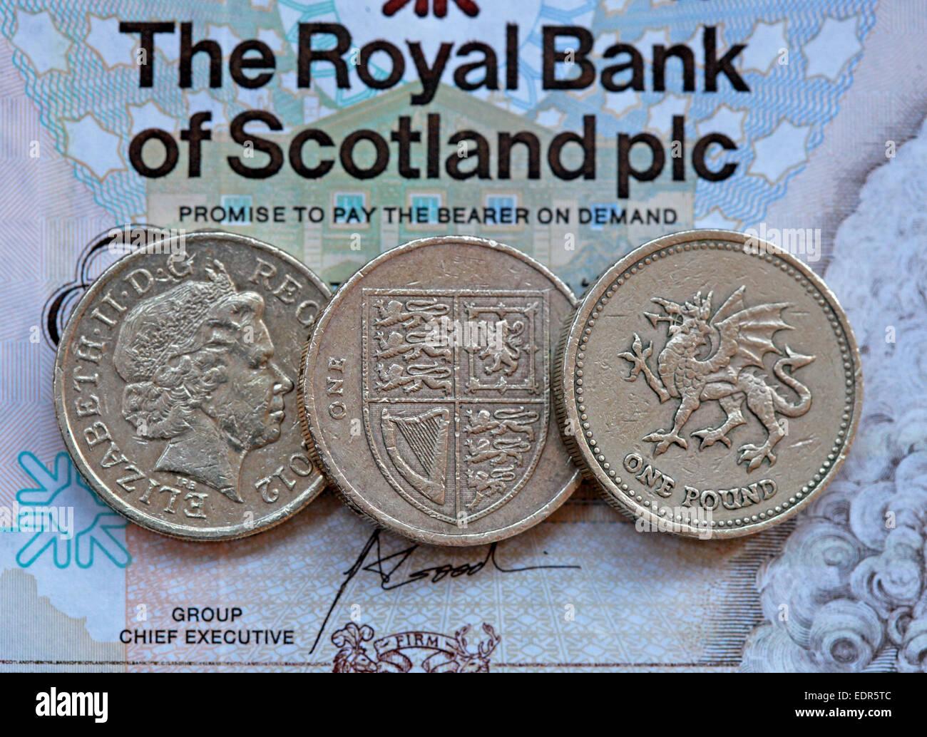 dh Scottish money MONEY SCOTLAND Royal Bank of Scotland one pound ...