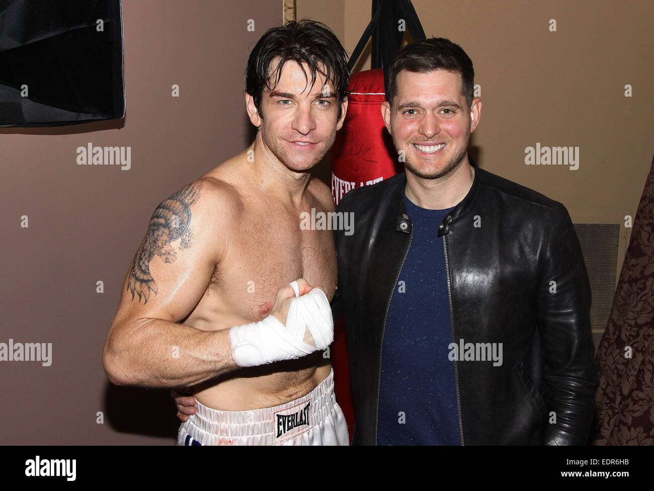 backstage at the broadway musical rocky at the winter garden