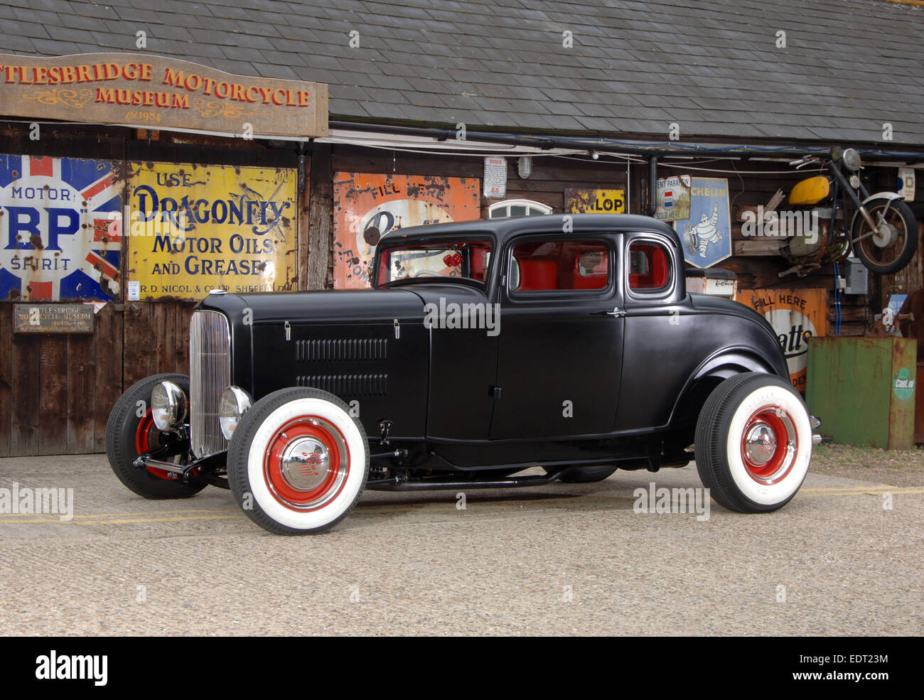 1930s Ford deuce traditional hotrod Stock Photo, Royalty Free ...
