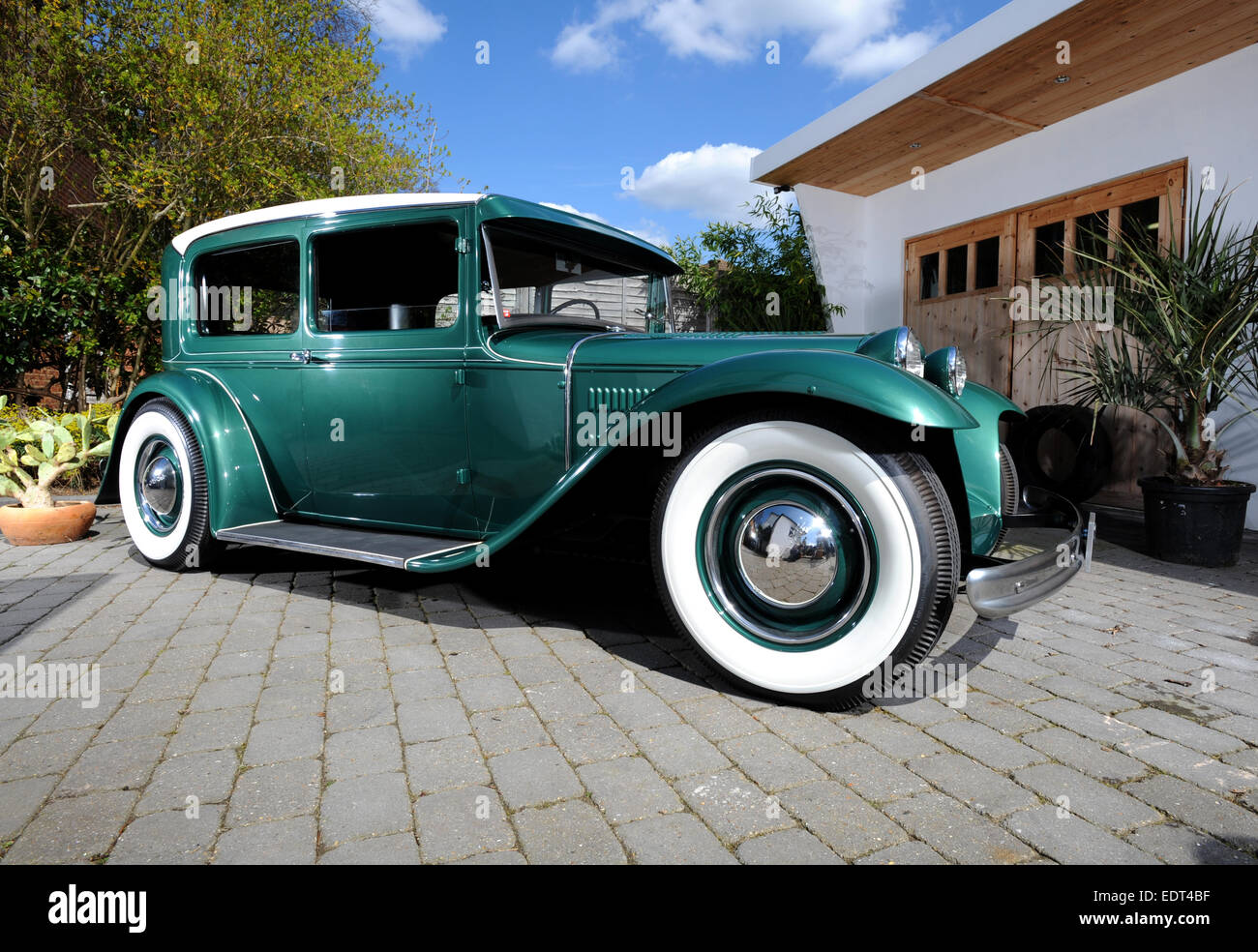 1930s ford cars built as hot rods in the 1940s or 50s stock photo