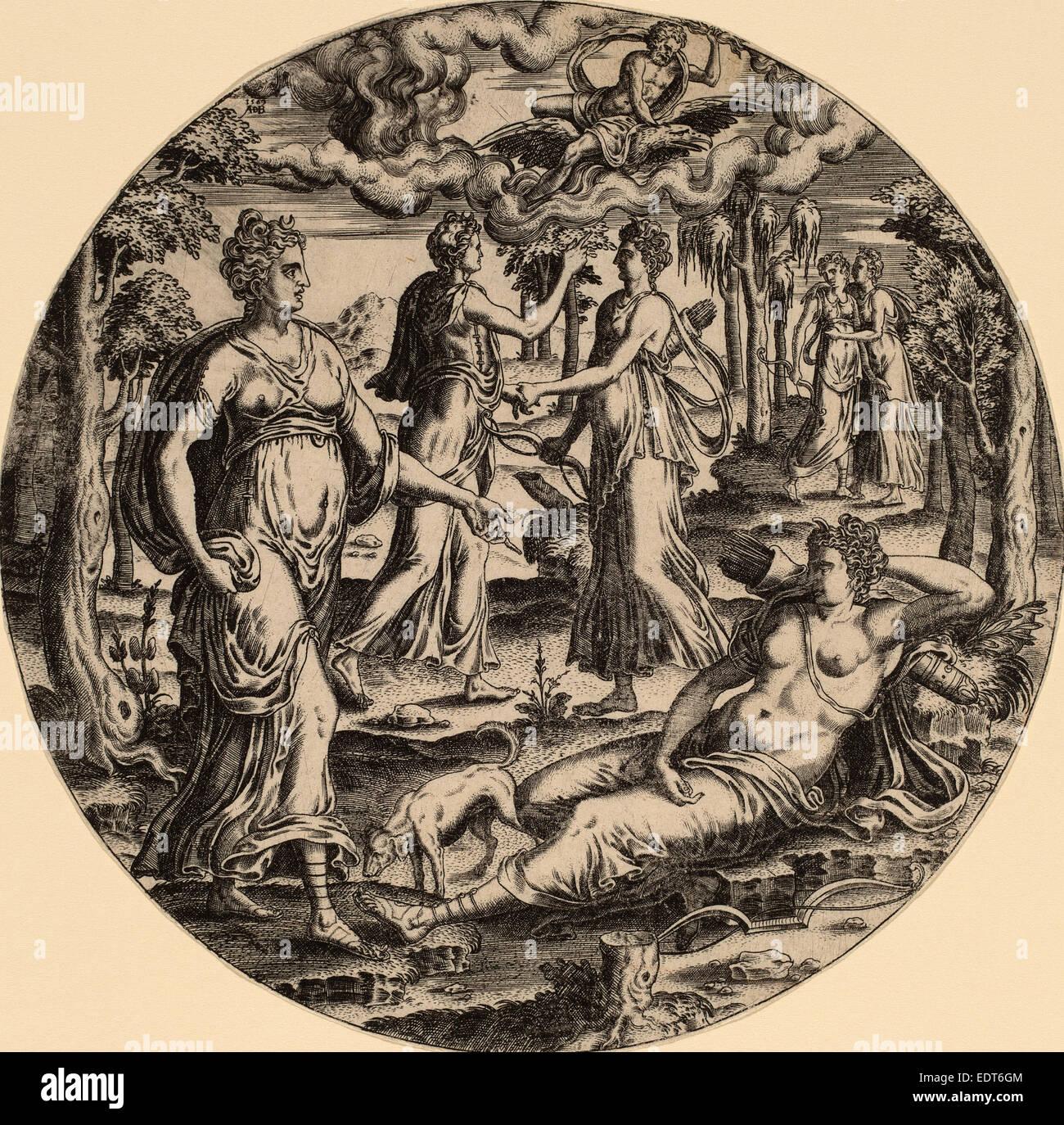 Abraham de bruyn flemish 1540 1587 diana and her - De breuyn mobel ...