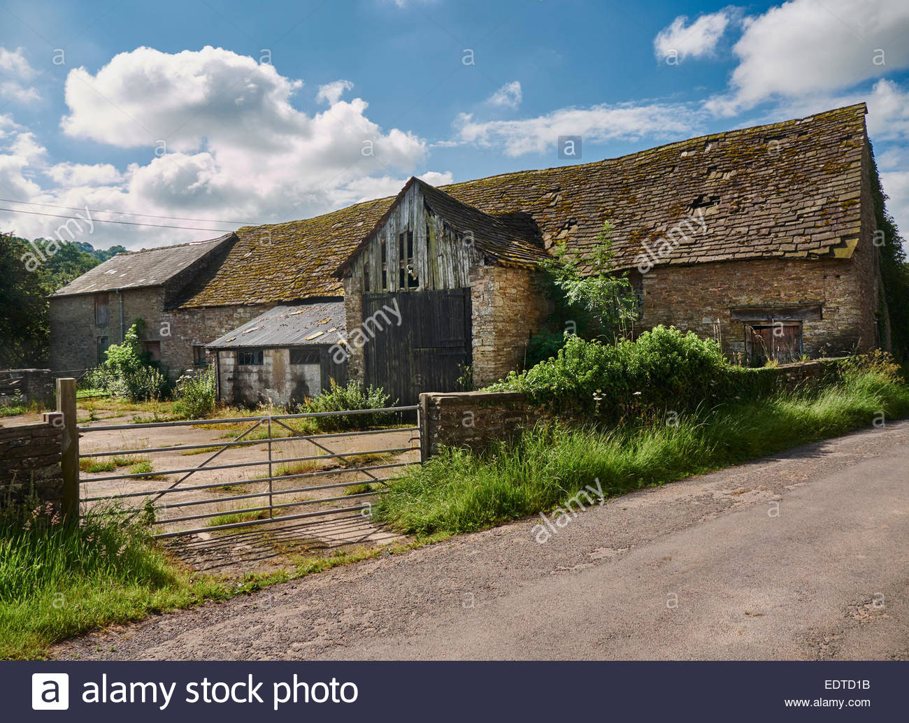 Old Farm Barns And Buildings In Longtown Between Abergavenny Herefordshire