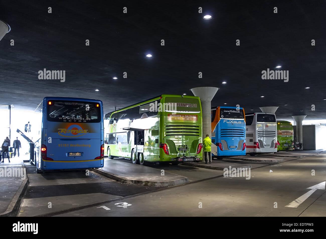 zentraler omnibusbahnhof zob m nchen oberbayern bayern stock photo 77376799 alamy. Black Bedroom Furniture Sets. Home Design Ideas