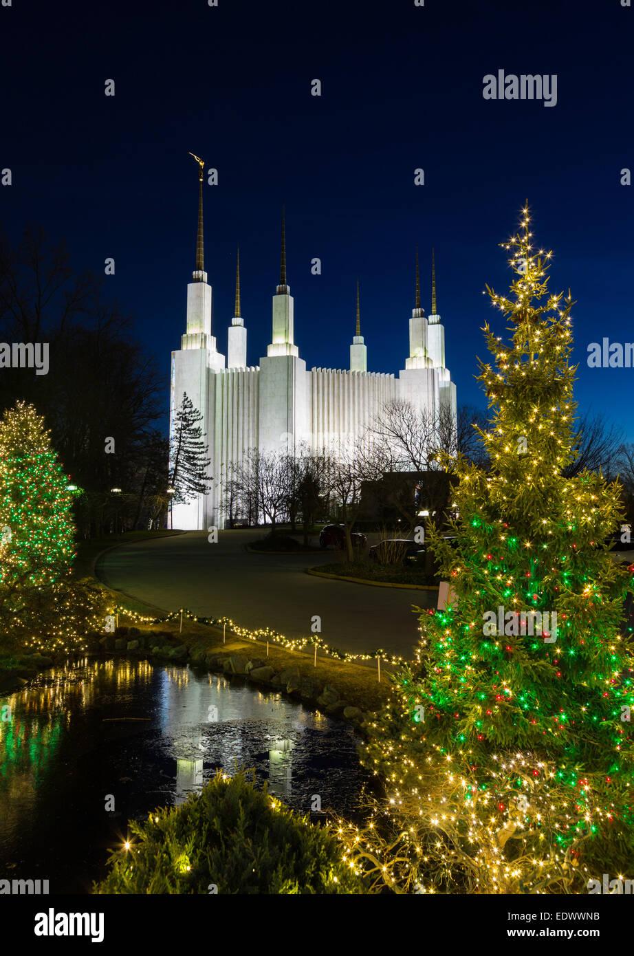 Christmas Lights At Washington Dc