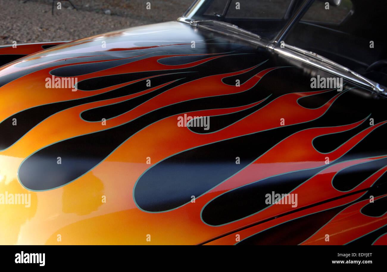 Pinstripes Flames Hot Rod Car Stock Photos & Pinstripes Flames Hot ...