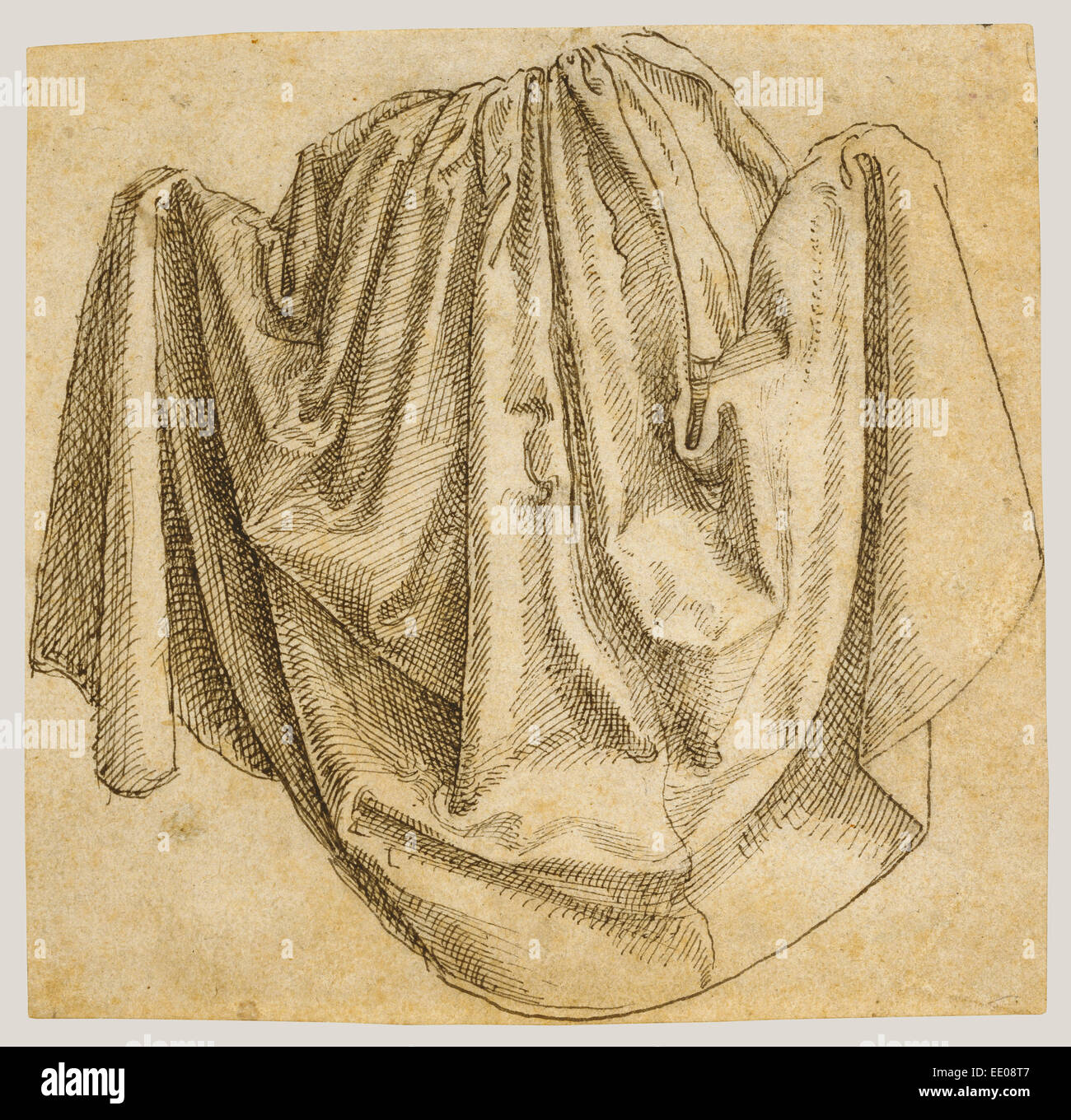 study of a hanging drapery hans brosamer german about 1500 about 1554 active erfurt and fulda germany 1520 1546 - Hanging Drapery