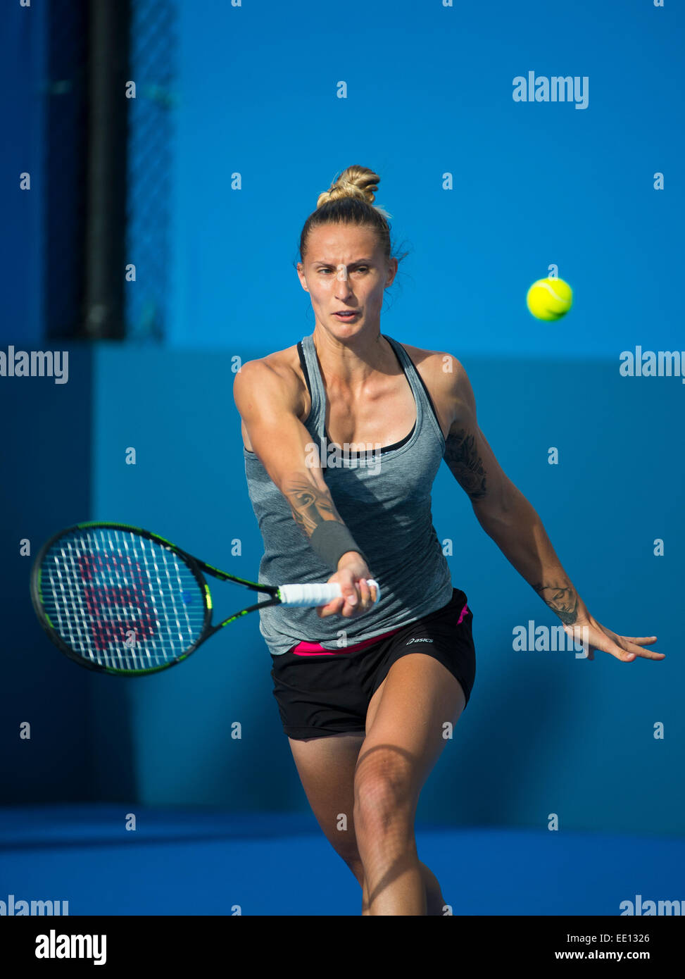 Sydney australia 12th jan 2015 polona hercog from slovenia playing her first