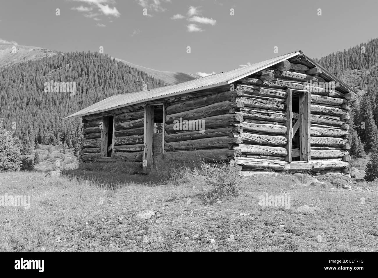 Marvelous photograph of Vintage Log Cabin In Old Mining Town Colorado Stock Photo Royalty  with #4B4B5C color and 1300x957 pixels