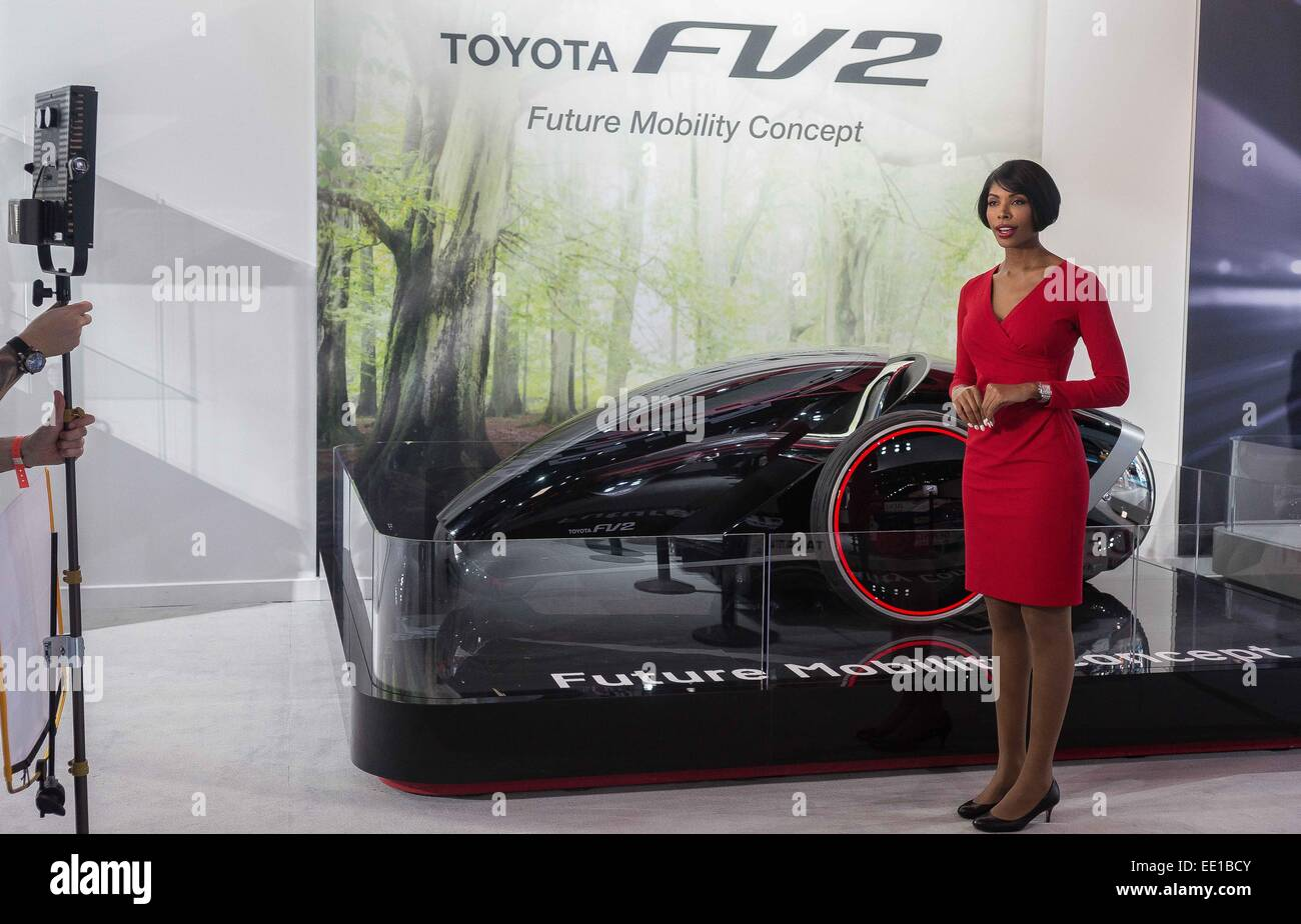 12th jan 2015 a model and toyota spokesperson presents at the north american international auto show 2015 in detroit mi credit alexis simpson zuma