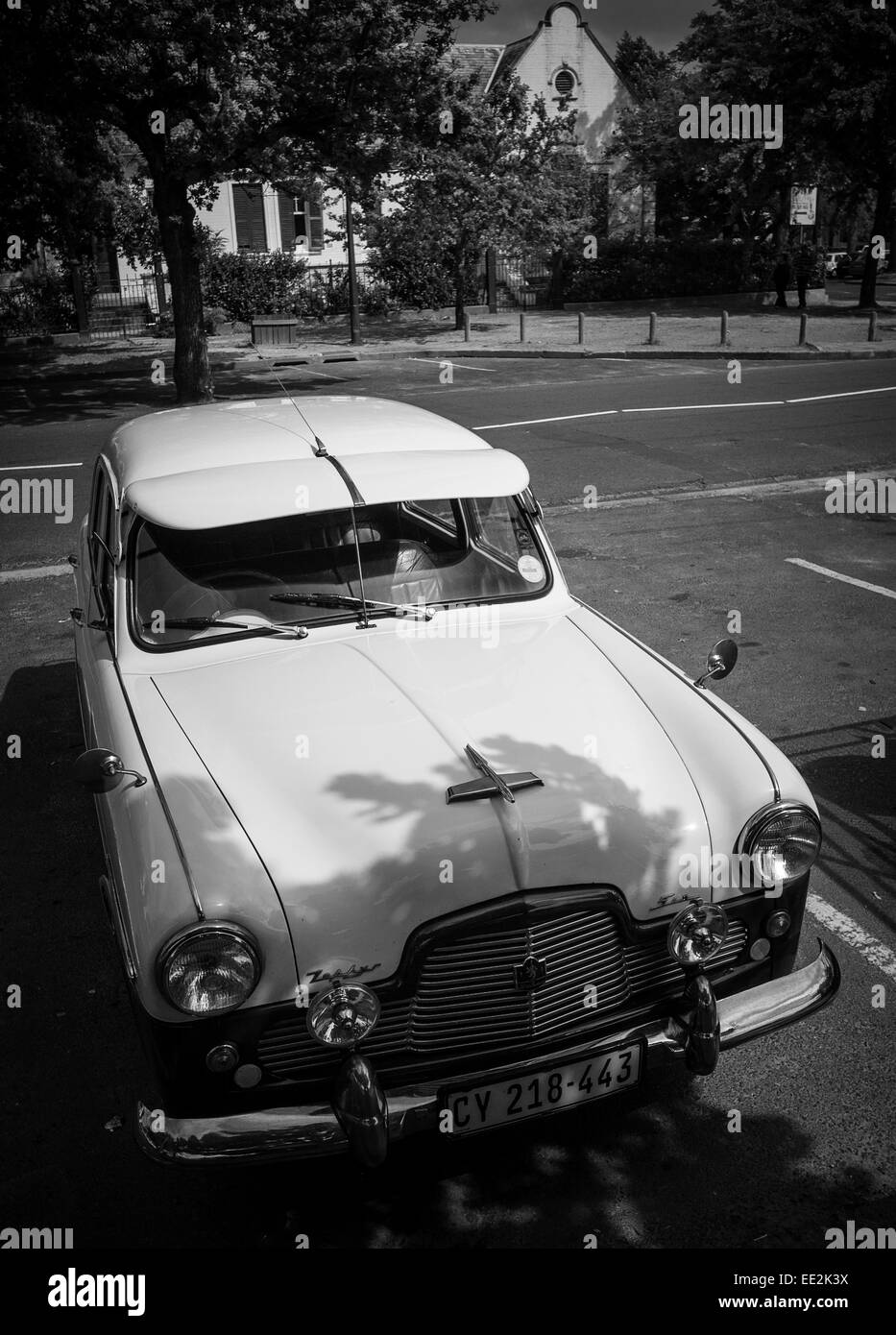 A 1950\'s Ford Zephyr Six classic car parked in Die Braak Stock ...