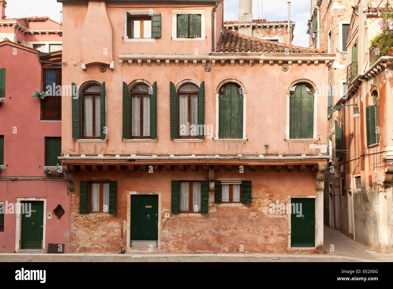 Facade Of Apartments In Venice Neighborhood