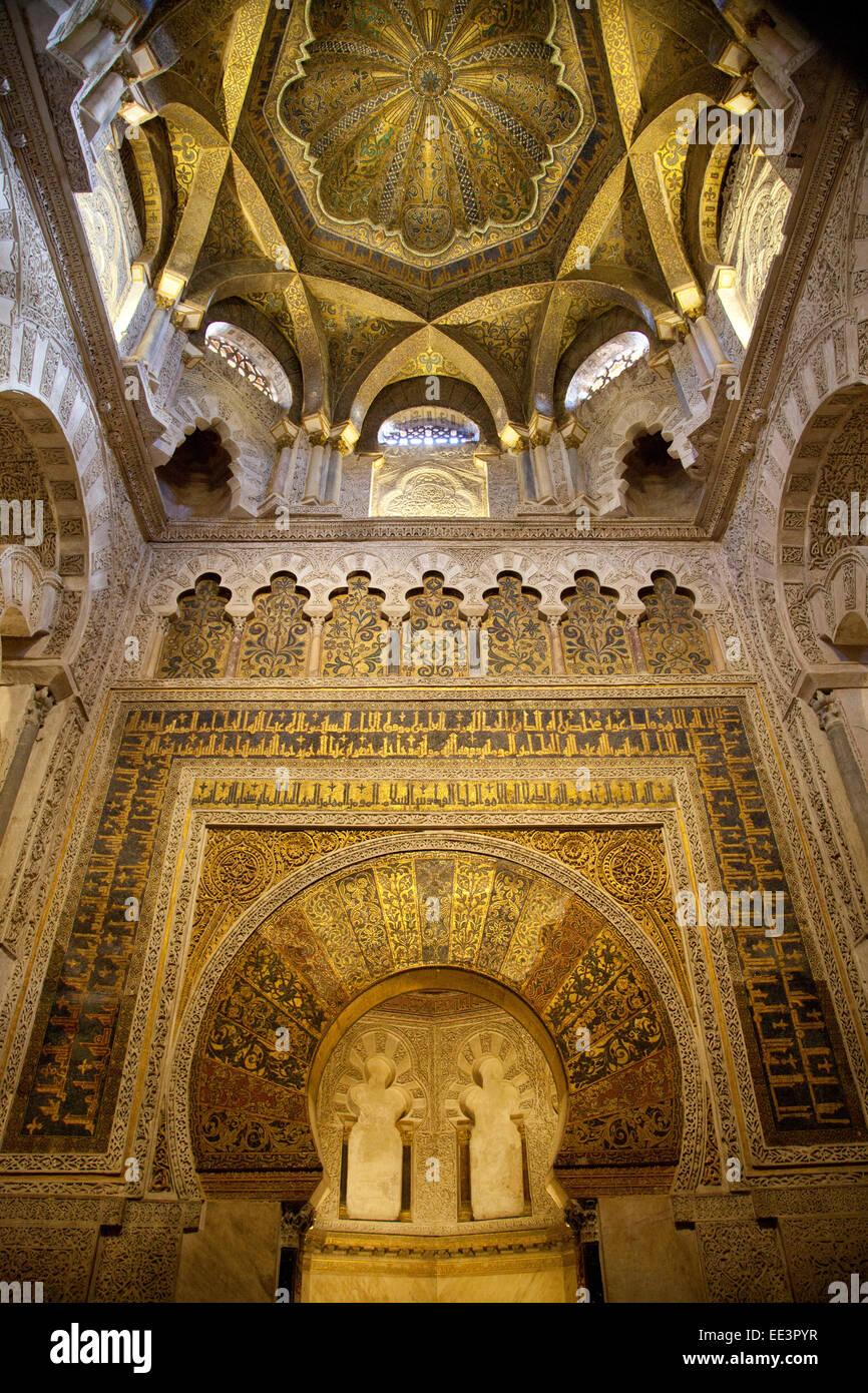 Cordoba, The Mezquita (great mosque), mihrab (prayer niche) to Stock Photo, R...