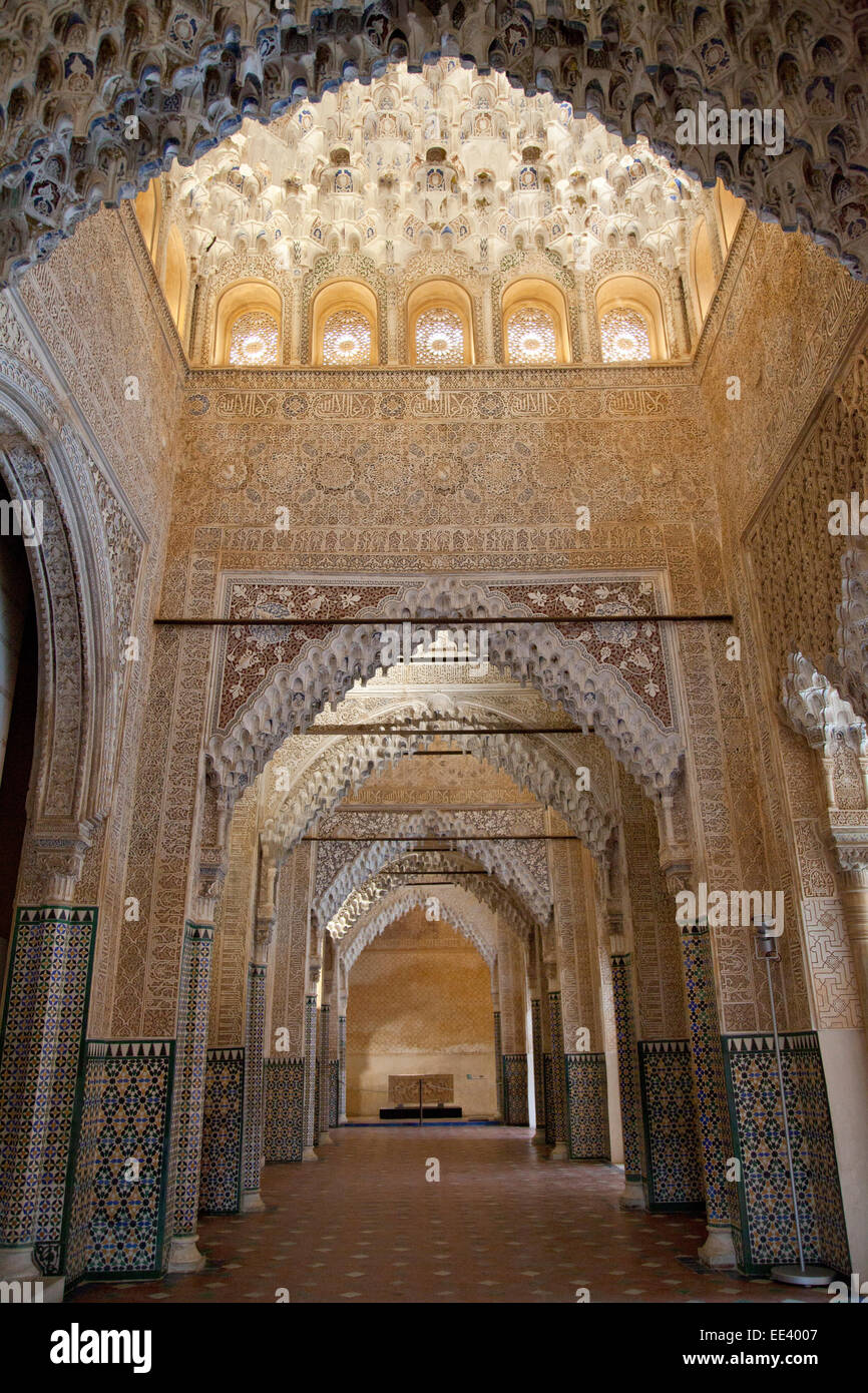 Granada, Alhambra, Hall of the Kings (Sala de los Reyes), or Justice Stock Ph...