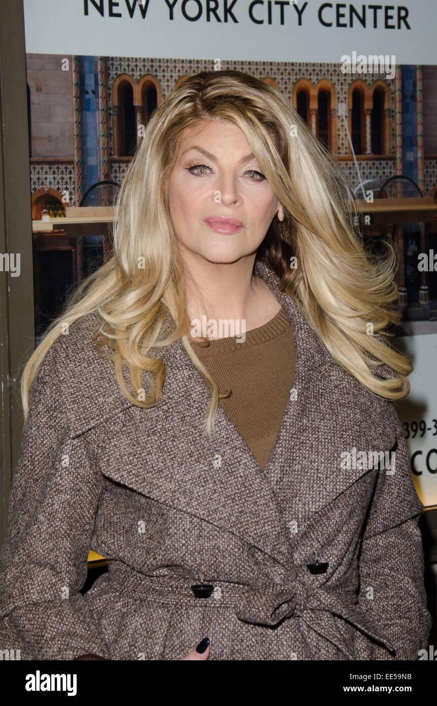 New York, NY, USA. 13th Jan, 2015. Kirstie Alley in ...