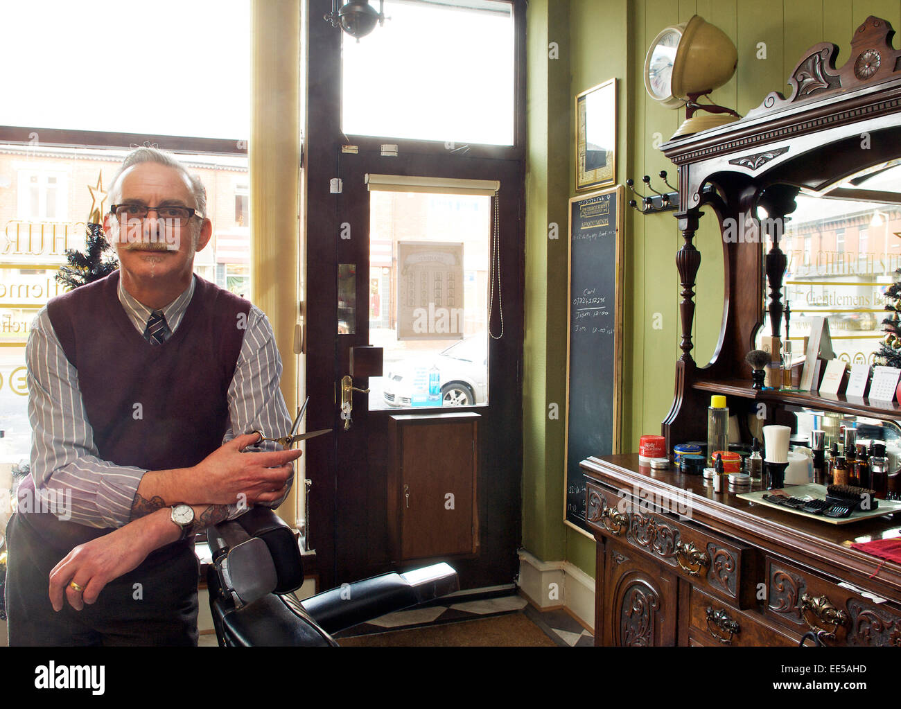 Traditional barbers shop Stock Photo, Royalty Free Image ...