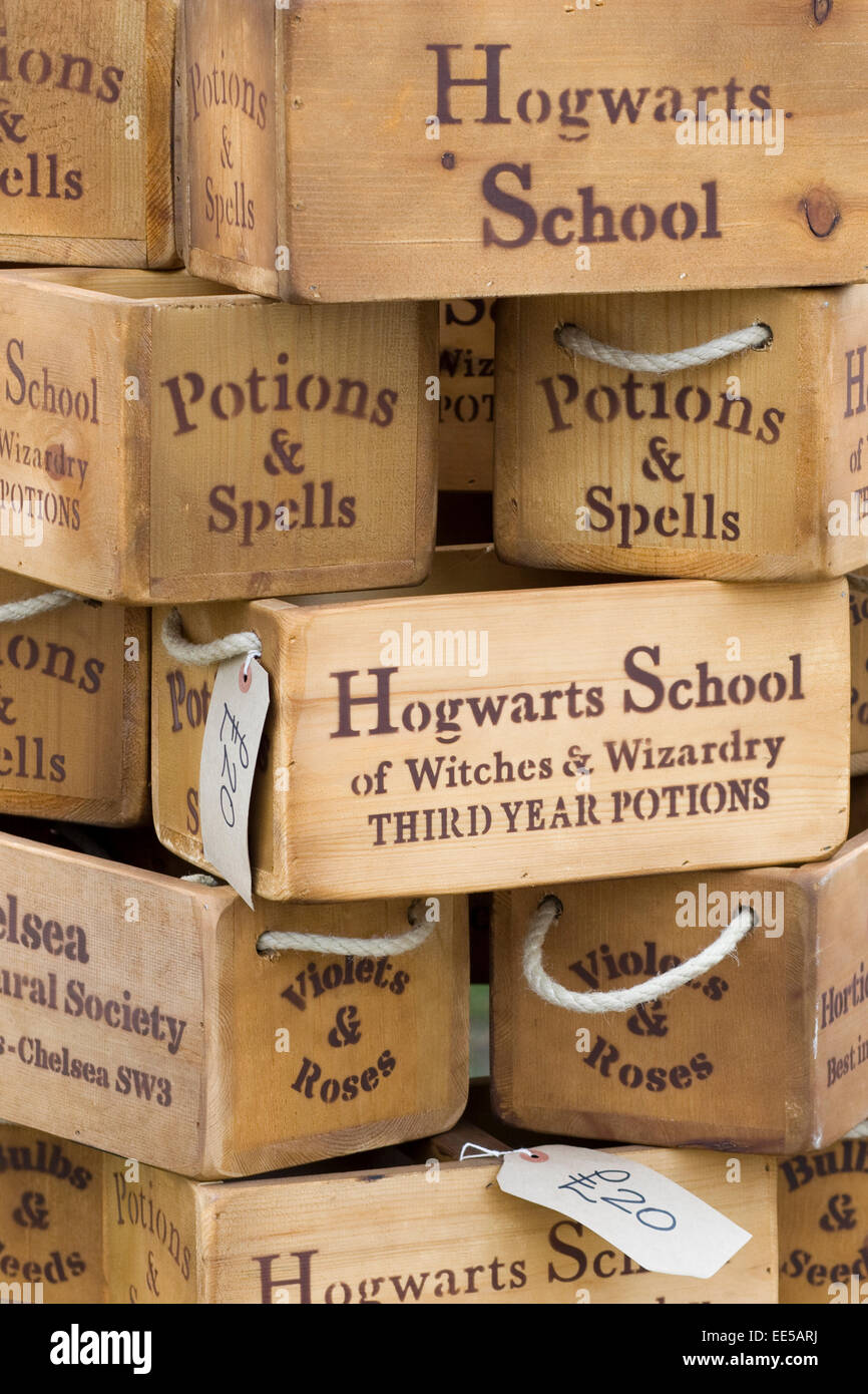 Harry Potter Potion and spells for Hogwarts School of Stock Photo ...