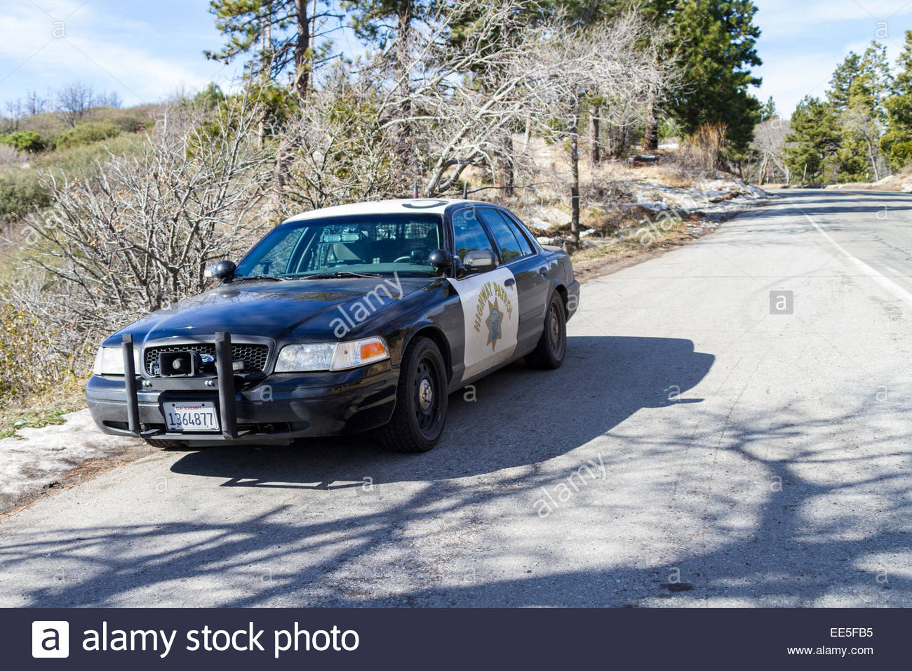 california highway patrol chp car on road usa california