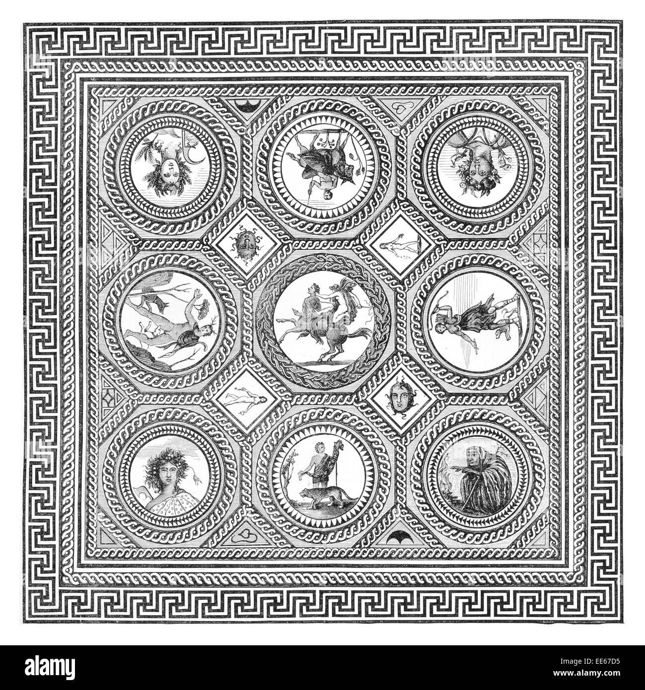 Mosaic pavement messrs hare bristol tessera roman design ceramic mosaic pavement messrs hare bristol tessera roman design ceramic tile tiles floor flooring ancient corinium mosaics doublecrazyfo Image collections