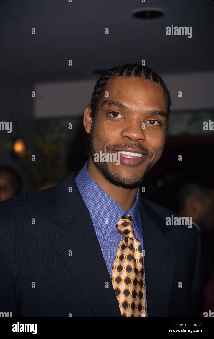 LATRELL SPREWELL at the Schick Protector celebrity Challence at