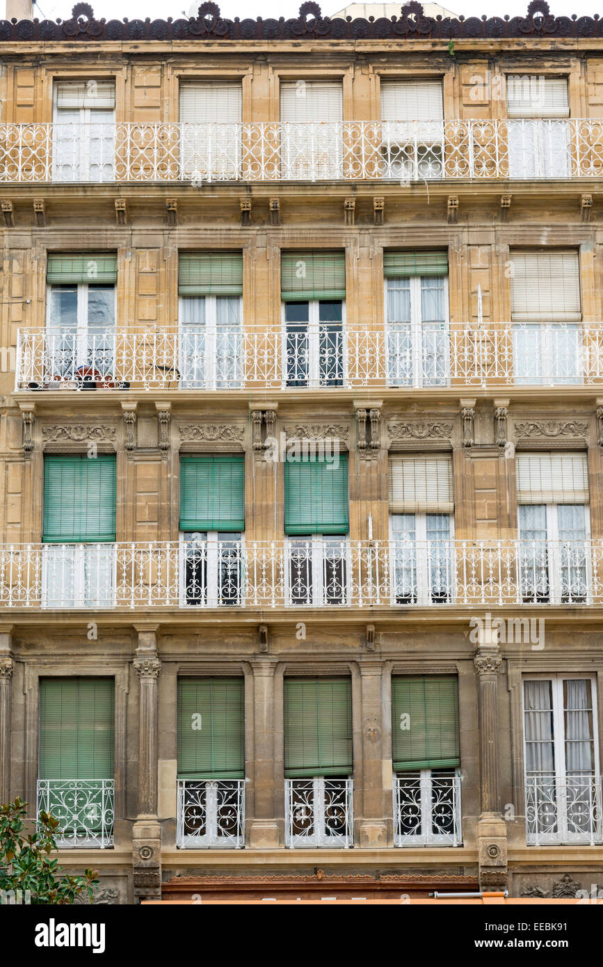 Ornate Windows And Doors On An Old Building In Haro Rioja Spain - Building architectural windows
