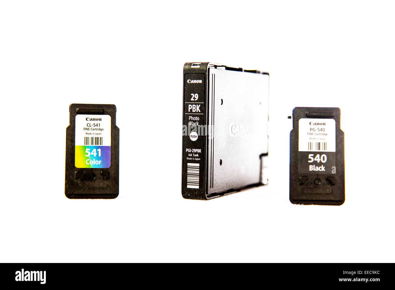 Canon Printer Ink Cartridges Print Printing Black Container Cartridge Inks Cut Out Copy Space White Background