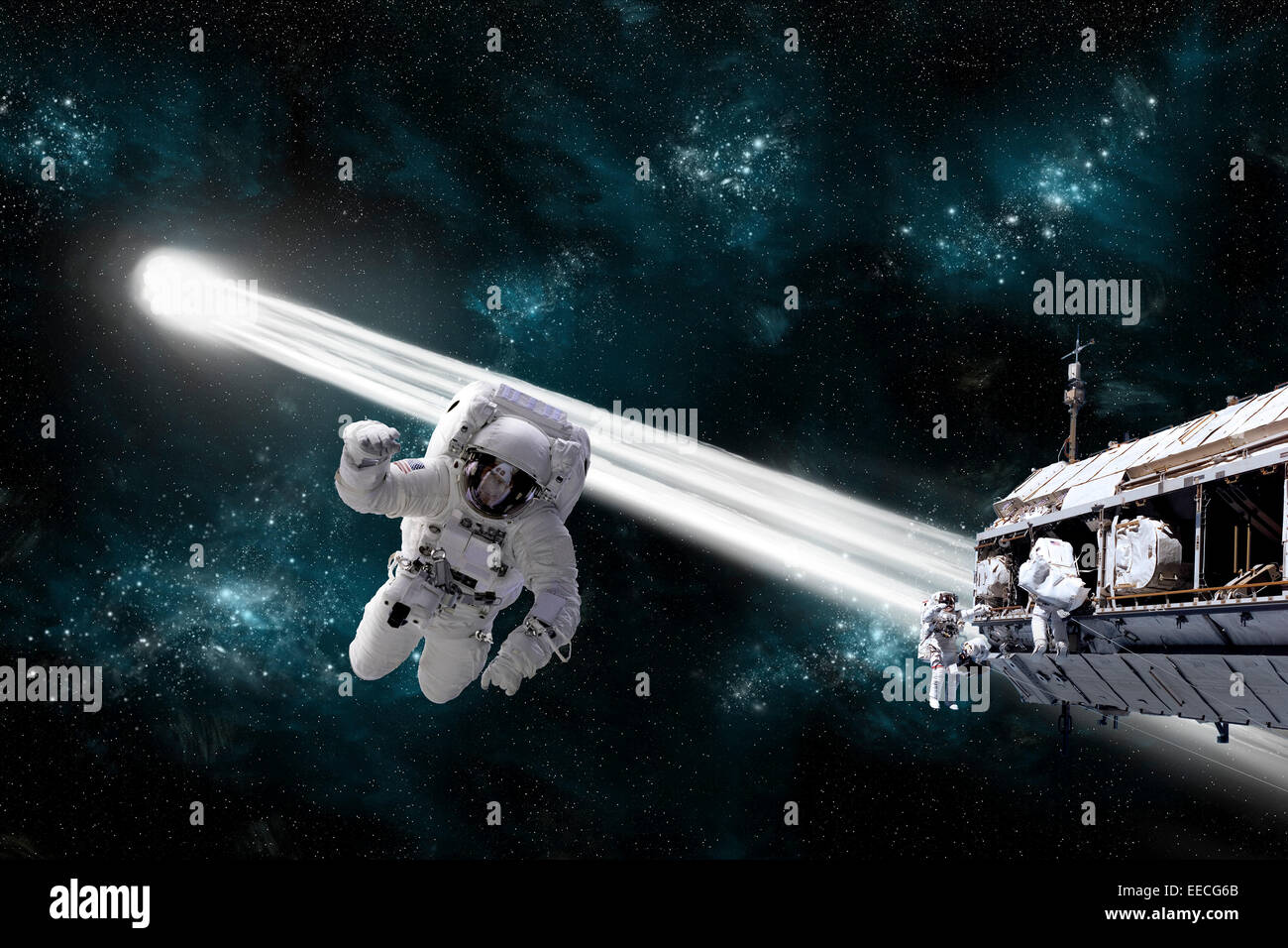 an astronaut floating in space - photo #29