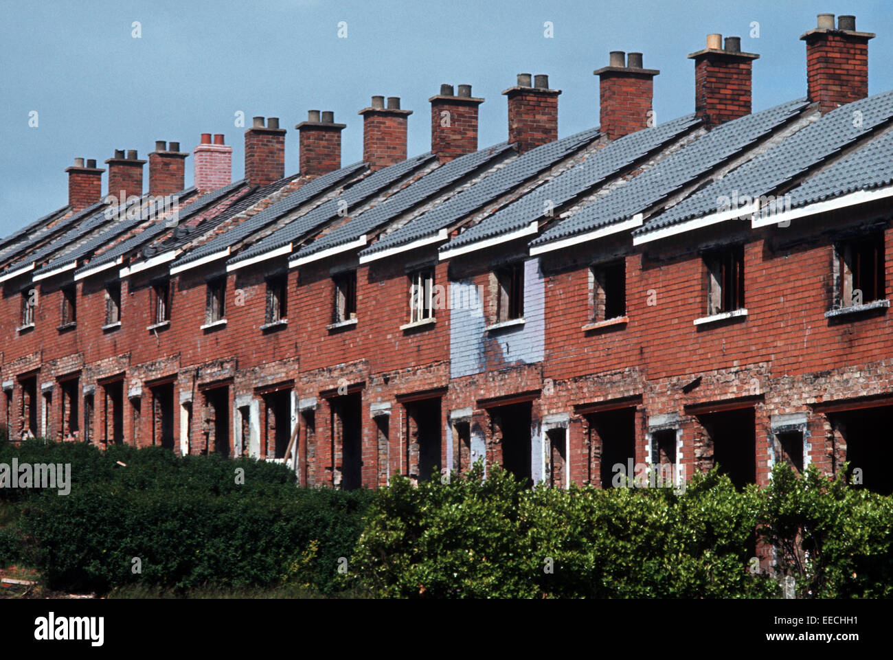 BELFAST, NORTHERN IRELAND - JUNE 1973. new Housing ...