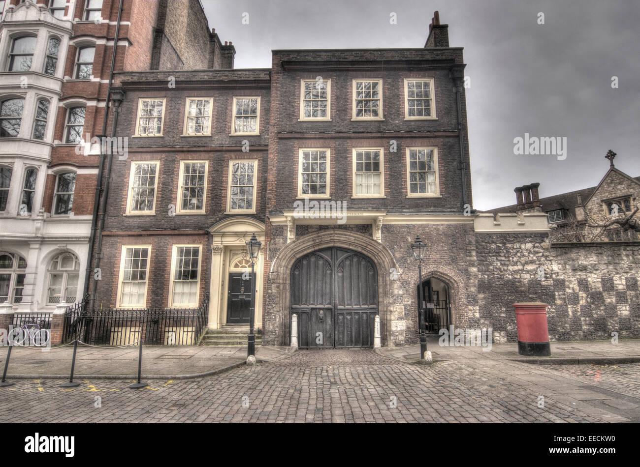 Georgian Souvenirs Stock Photos Georgian Souvenirs Stock: Charterhouse London Gatehouse. Georgian Building Stock