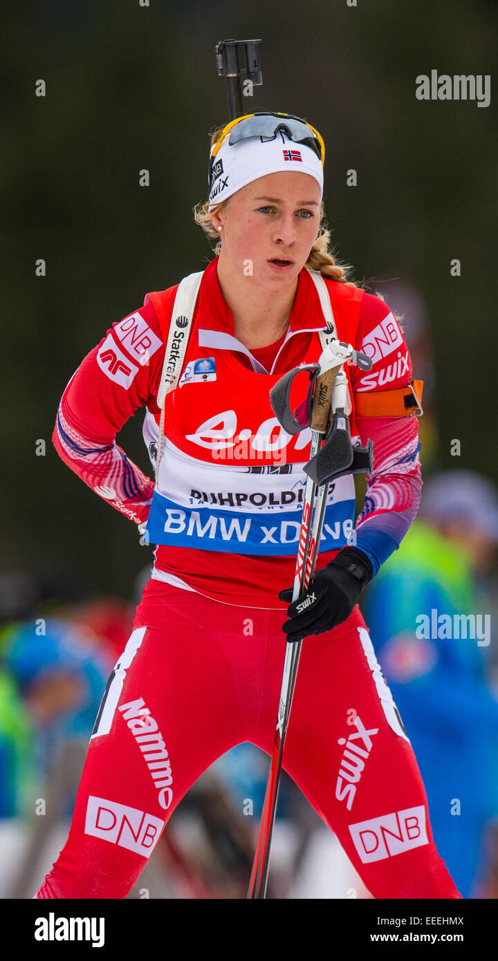 Ruhpolding Germany  City new picture : Ruhpolding, Germany. 16th Jan, 2015. Tiril Eckhoff Of Norway In Stock ...