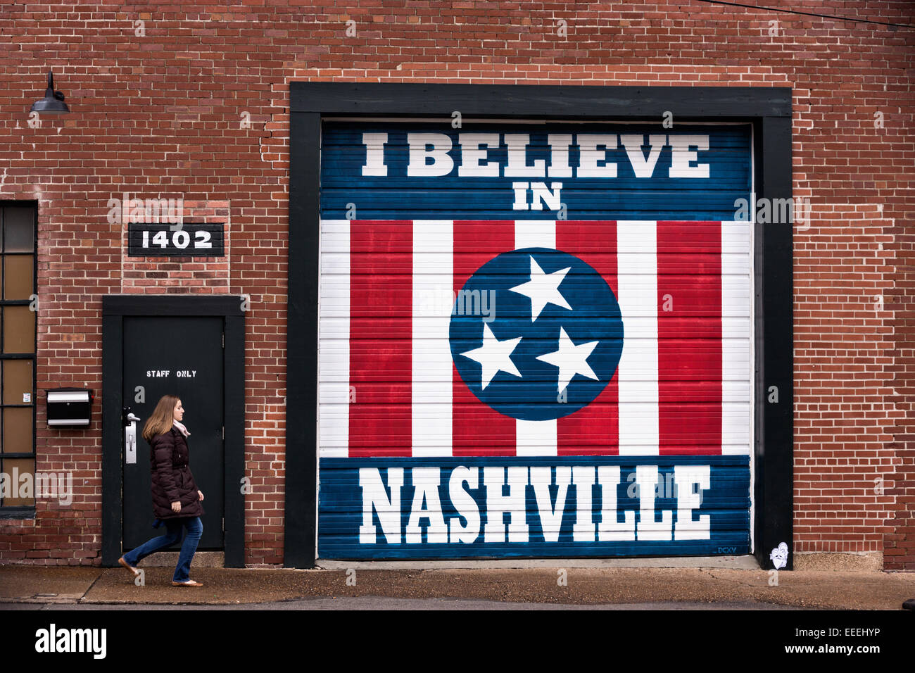 "Nashville Wall Art i believe in nashville"", sign, downtown, nashville, tennessee"