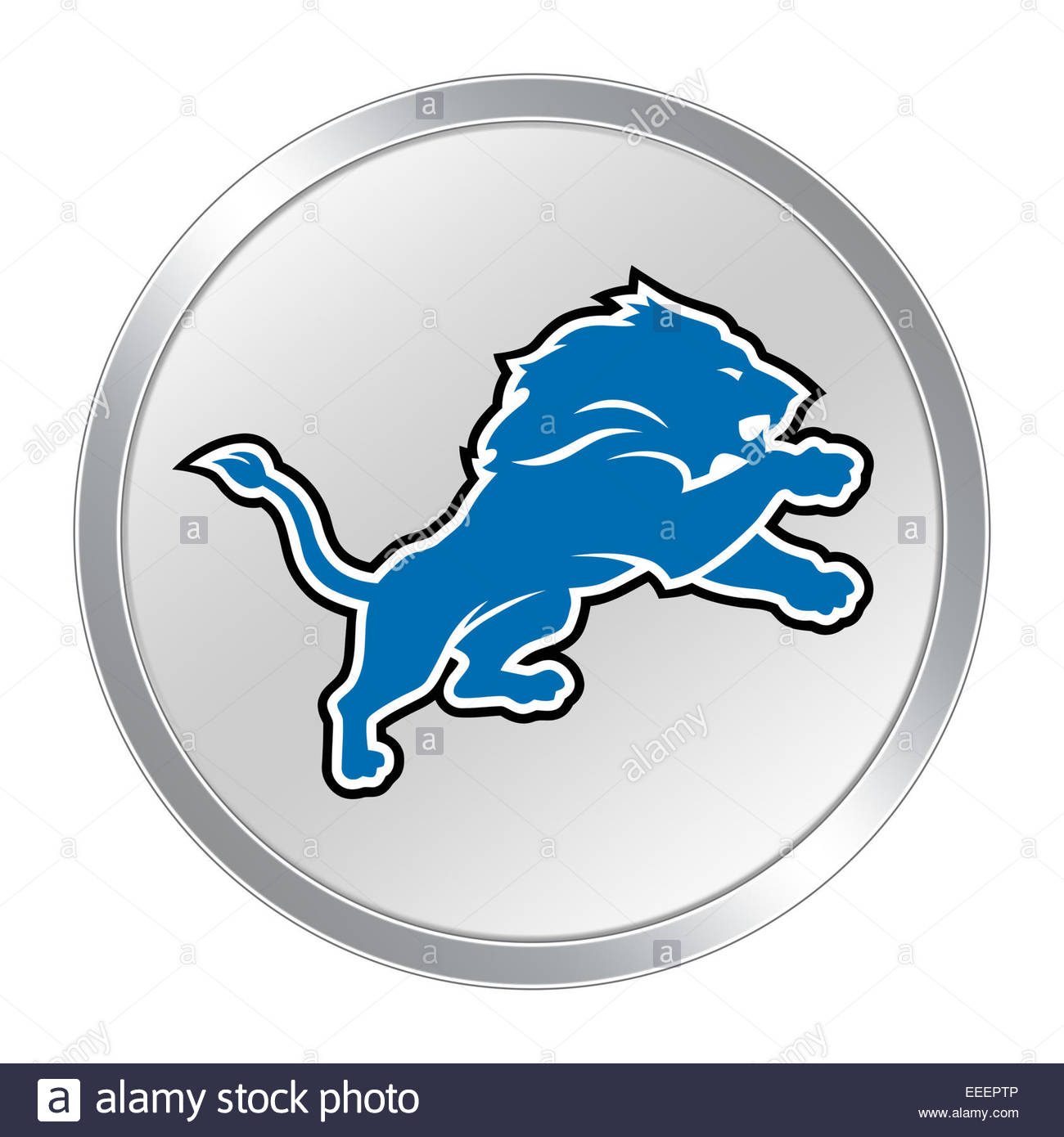 detroit lions logo icon button