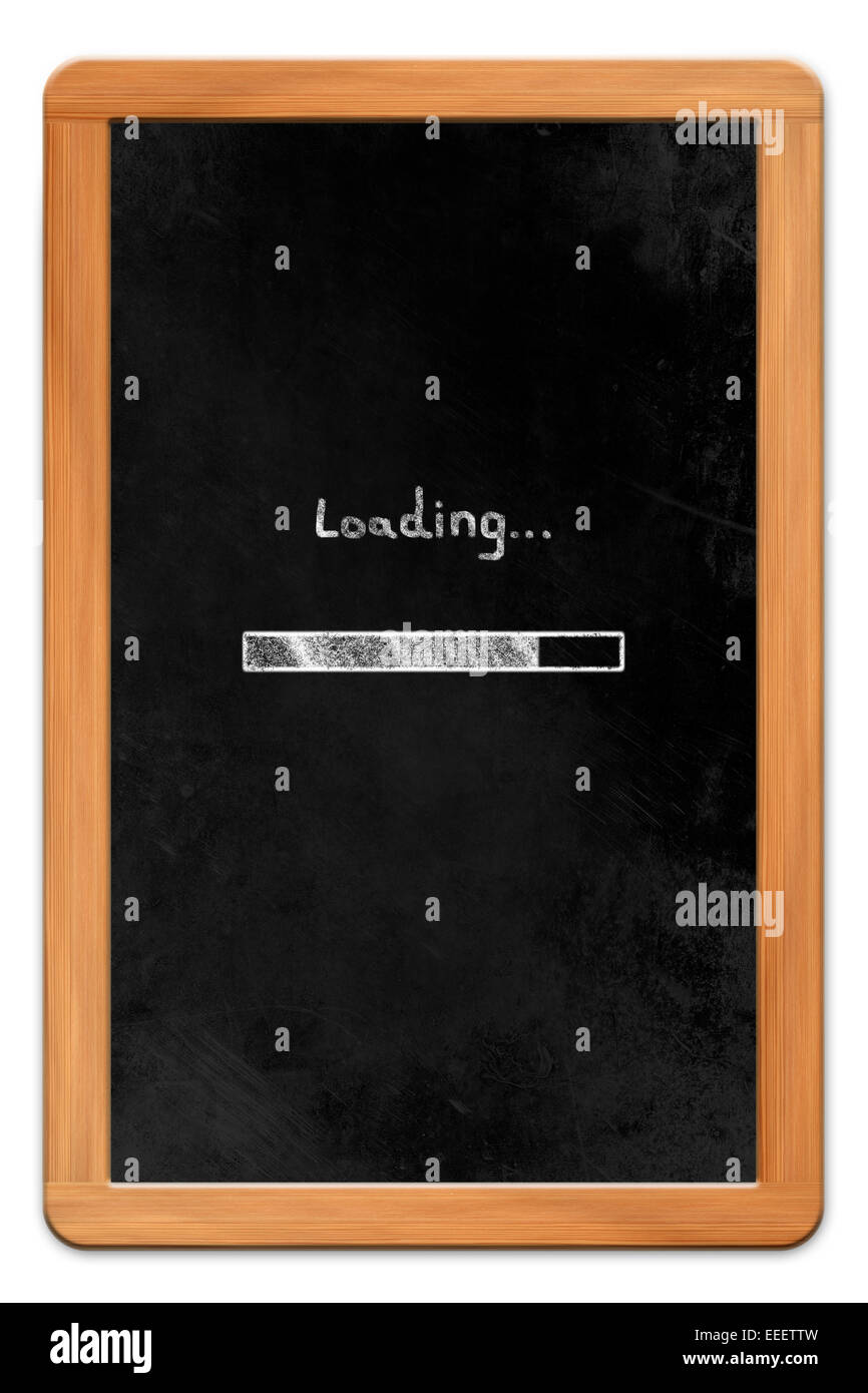 Blackboard with wooden frame and chalk drawn tablet computer blackboard with wooden frame and chalk drawn tablet computer loading symbol isolated on white backround biocorpaavc Image collections