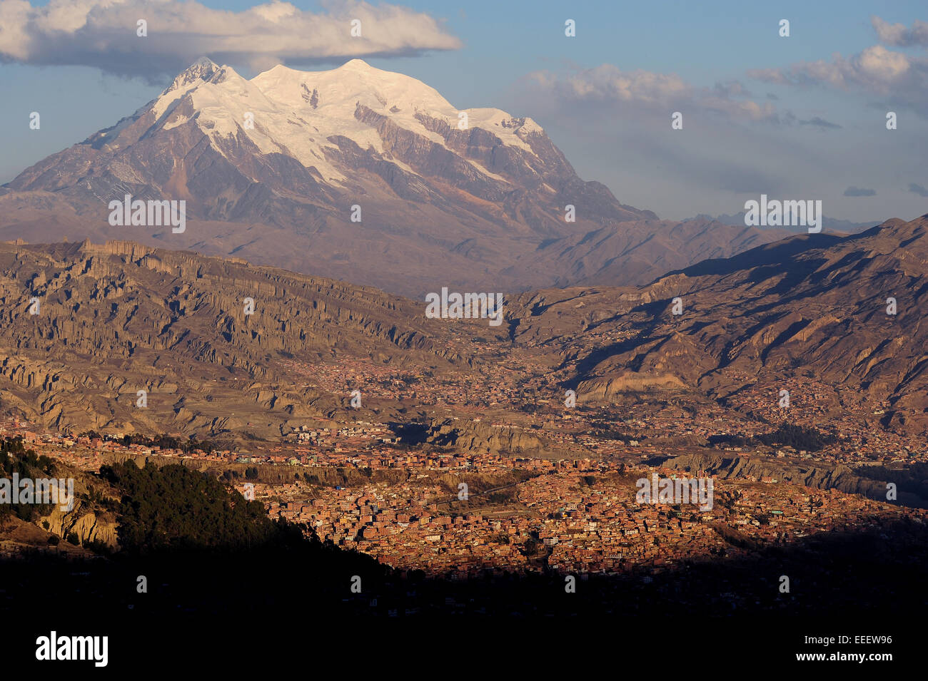 The City Of La Paz Bolivia Sits An An Elevation Of Feet - Level above sea level