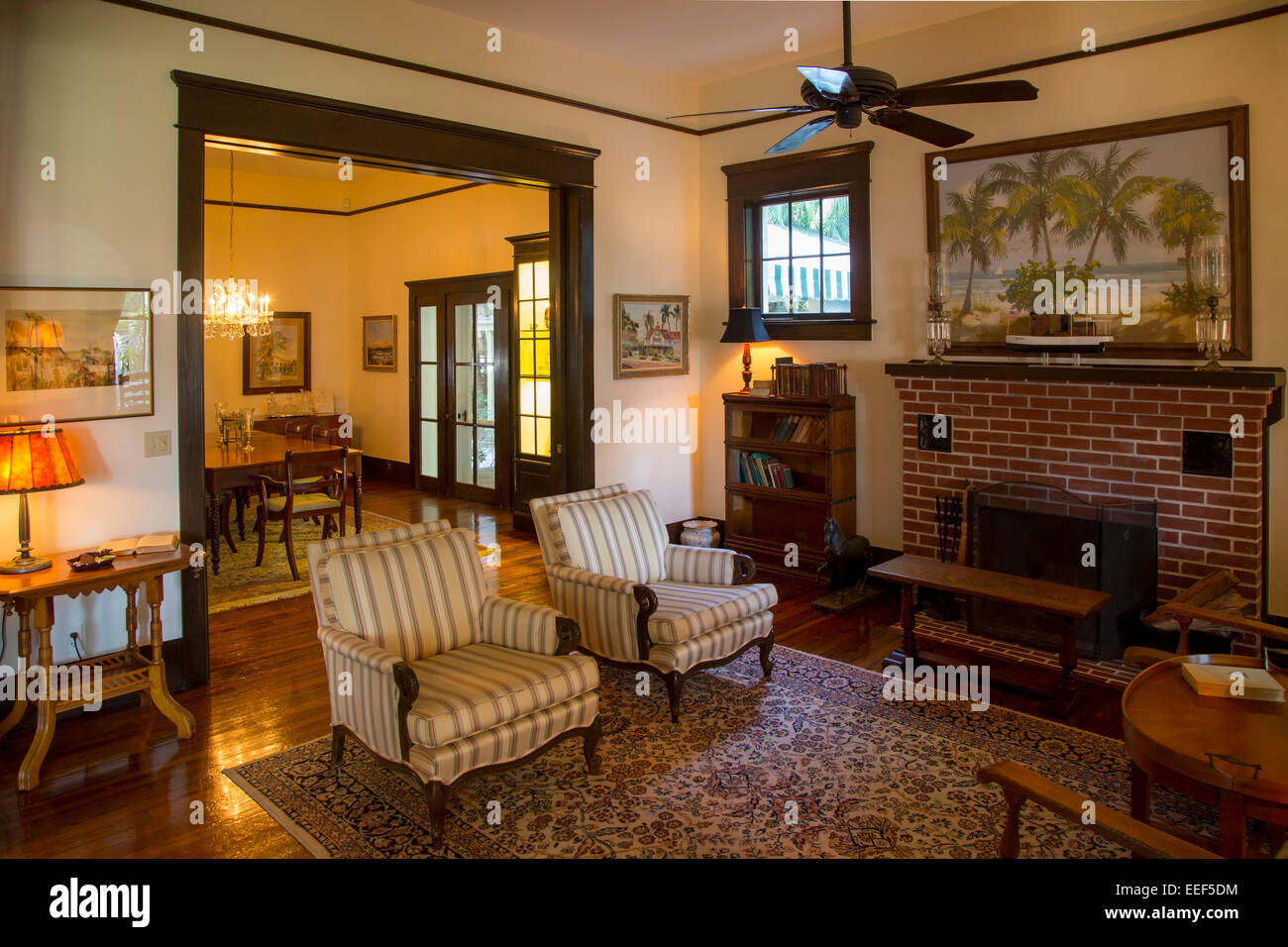 Interior Of Historic Palm Cottage B 1895