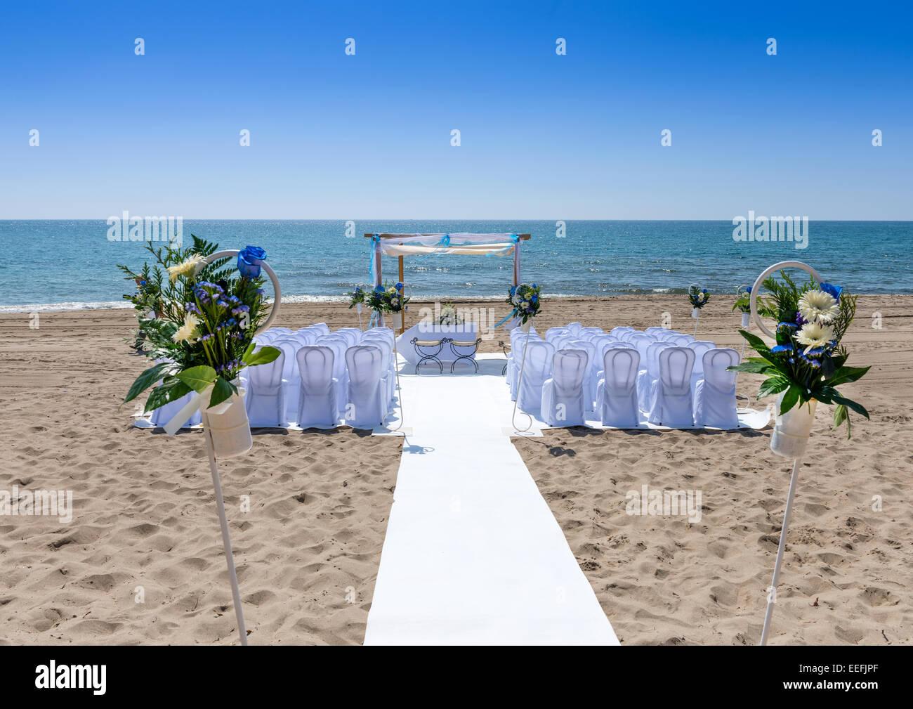 Wedding Venue On The Beach At Mojacar Almeria Province Andalusia Spain