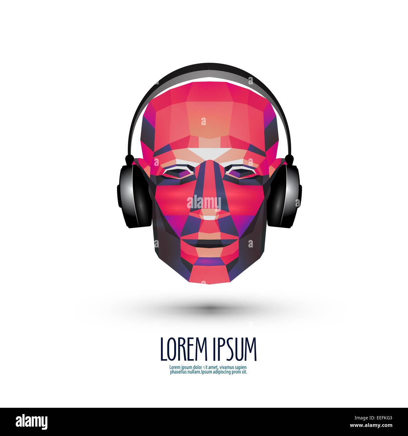 DJ vector logo design template. music or headphones icon ...