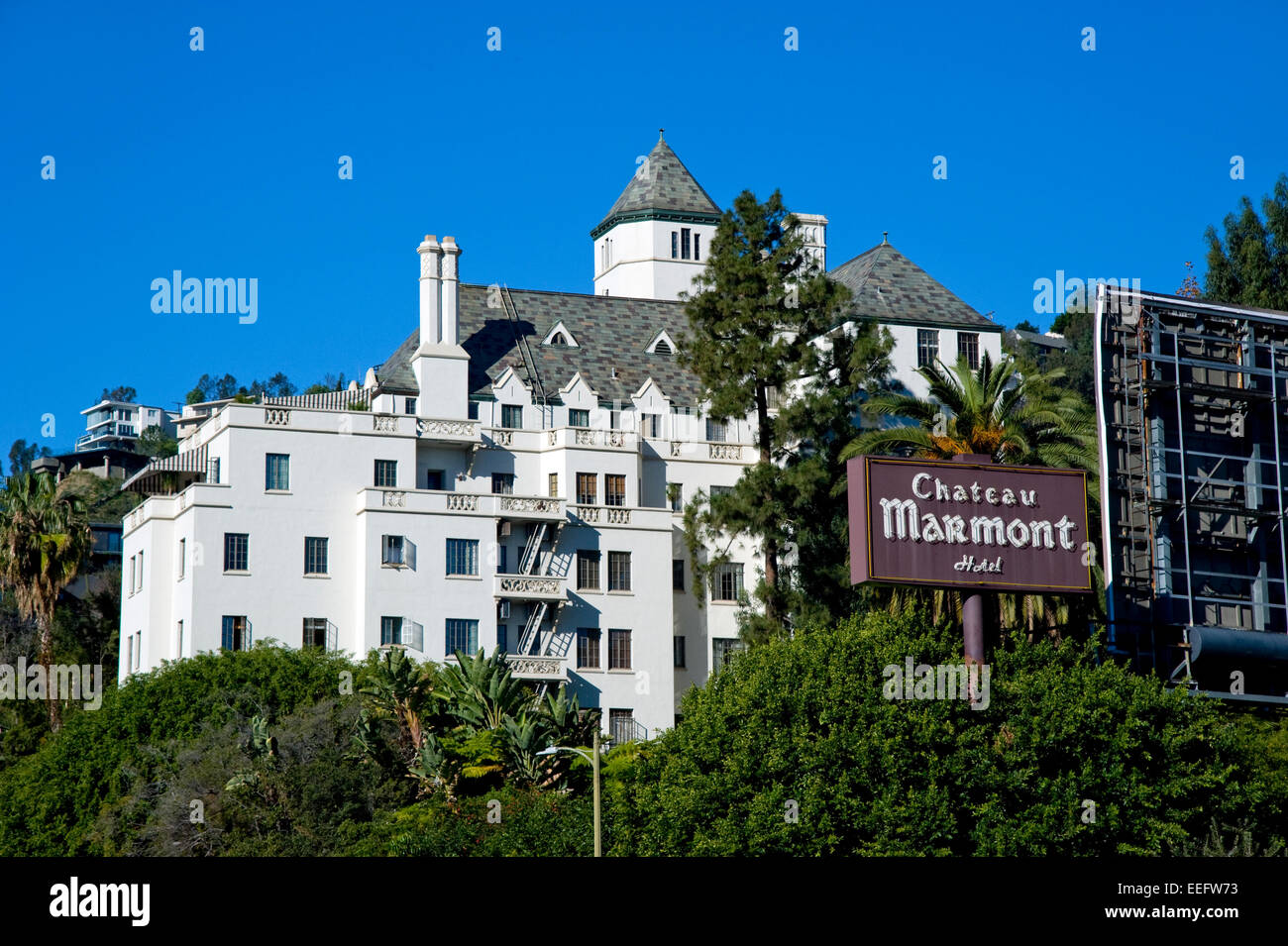 chateau marmont hotel on the sunset strip in los angeles. Black Bedroom Furniture Sets. Home Design Ideas