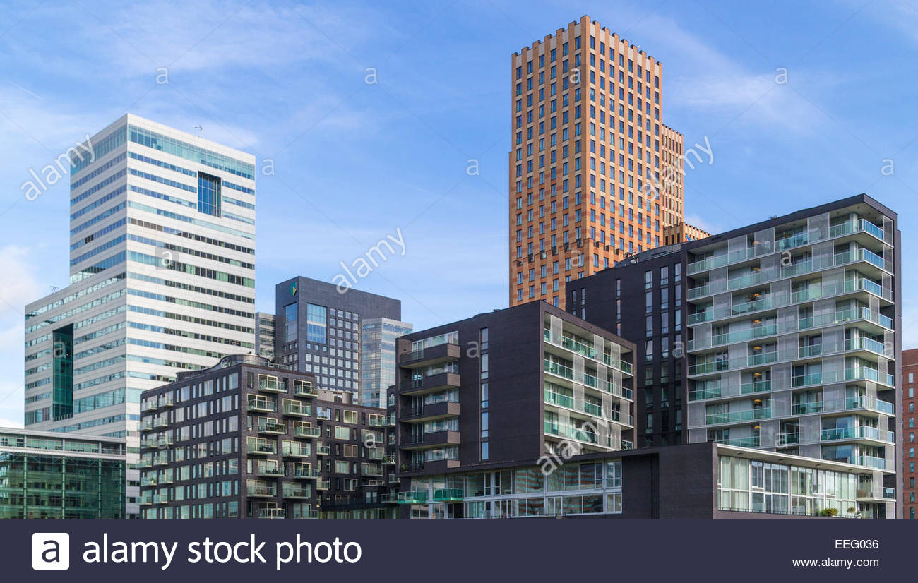 Amsterdam ZuidAs CBD - Modern Dutch Architecture in the financial heart of  The Netherlands.