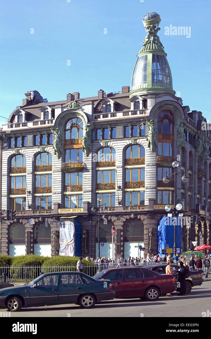 Fassade Architektur russland st petersburg newskij prospekt singerhaus architektur