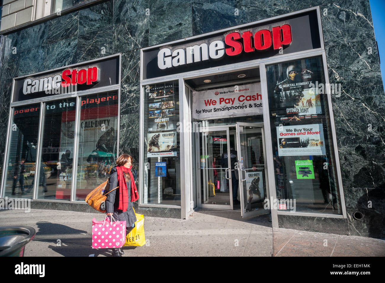 A gamestop video game store in the herald square shopping district in new york on thursday