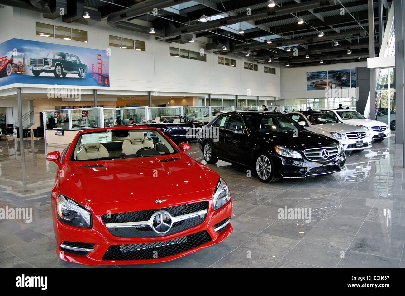 View Of Mercedes Dealer Showroom In San Jose California Stock - California mercedes benz dealers
