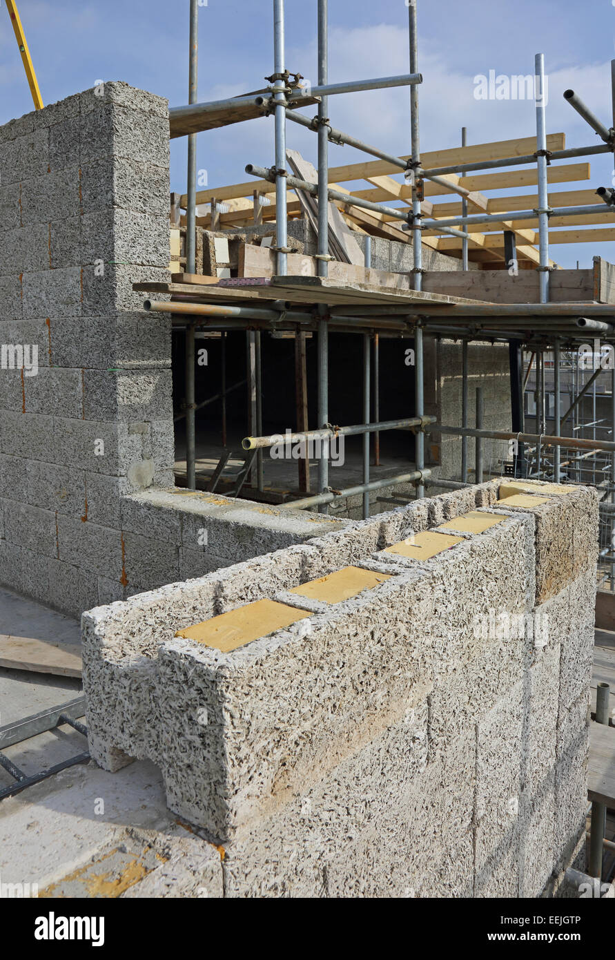 Durisol Low Energy Cement Bonded Wood Fibre Blocks Being